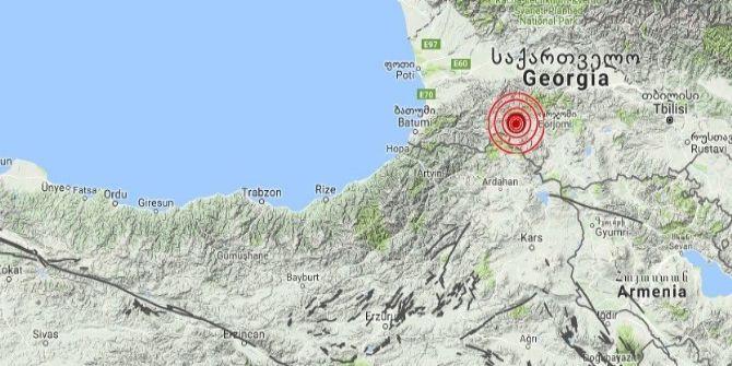 Türkiye-gürcistan Sınırında 4.1 Şiddetinde Deprem