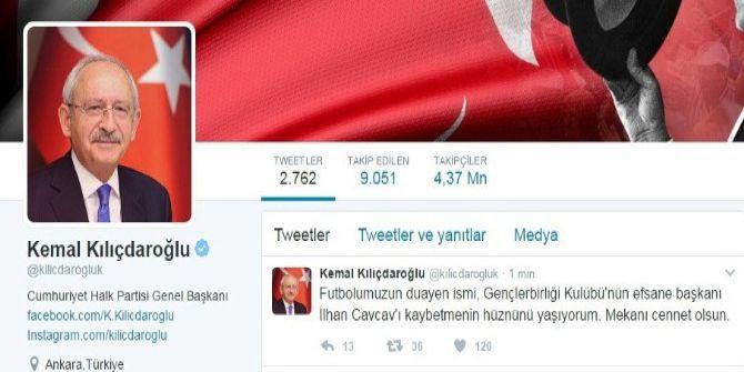 Chp Lideri Kılıçdaroğlu'ndan Cavcav Mesajı