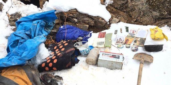 Tunceli'de 19 Sığınakta Çok Sayıda Malzeme Ele Geçirildi