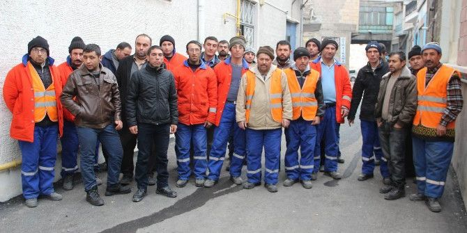 Nevşehir'de Temizlik İşçileri Eylem Yaptı