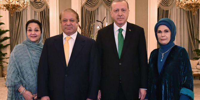 Cumhurbaşkanı Erdoğan İle Pakistan Başbakanı Şerif Akşam Yemeğinde Bir Araya Geldi