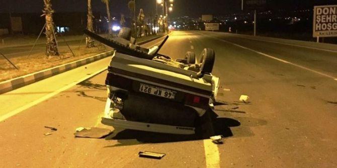 Kontrolden Çıkan Otomobil Takla Attı: 5 Yaralı