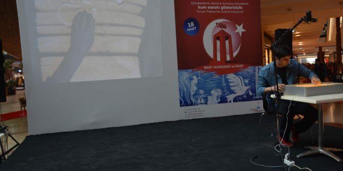 Çanakkale'nin Destansı Kurtuluş Mücadelesi Kum Sanatına Yansıdı
