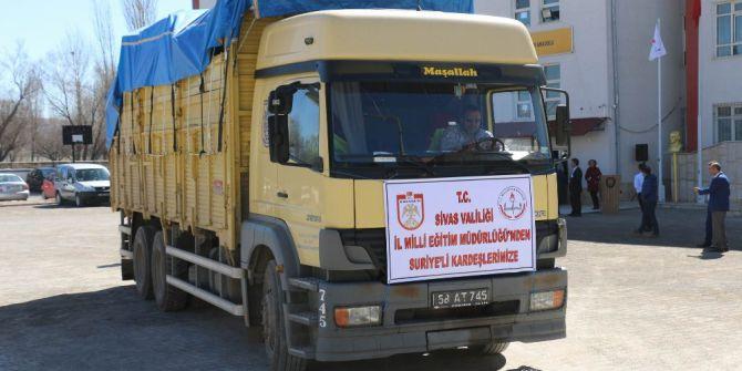 Sivas'tan Suriyeli Öğrencilere 2 Tır Yardım