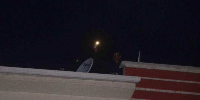 Polis Tacizci Şahsı Saklandığı Çatıda Yakaladı