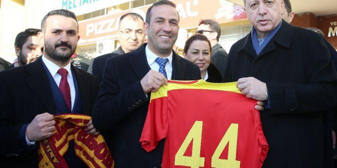 Evkur Yeni Malatyaspor'a, Cumhurbaşkanı Erdoğan Morali