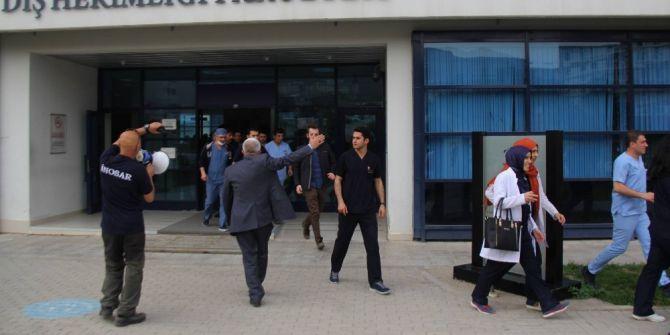 İnönü Üniversitesinde Gerçeğini Aratmayan Deprem Tatbikatı