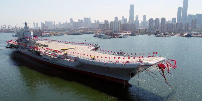 Çin, Yerli Yapım Uçak Gemisini Suya İndirdi