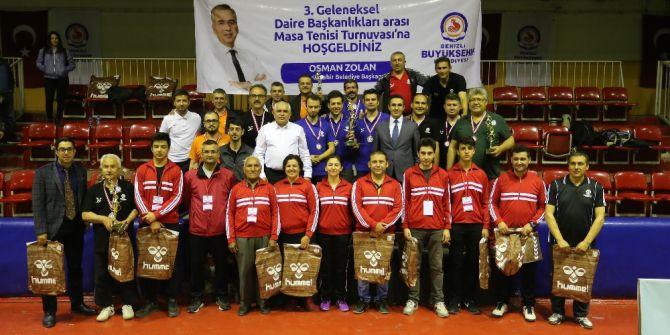 25 Takım 100 Personel İle Masa Tenisi Turnuvası Heyecanı