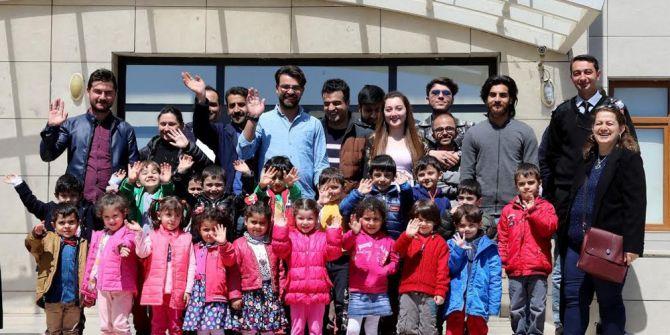 Ağrı Kardelen Anaokulu Öğrencilerinden Aiçü'ye Ziyaret
