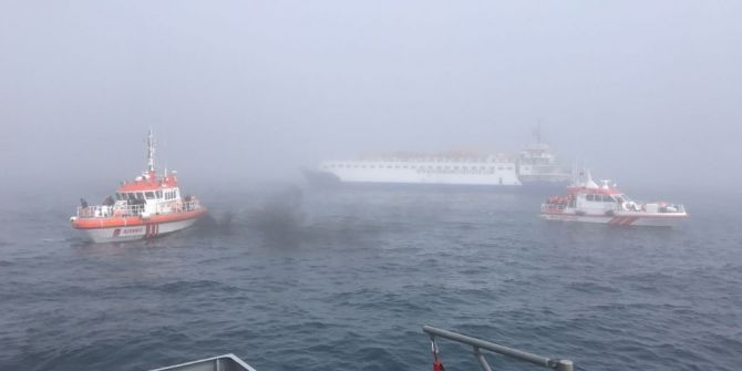 """Tsk: """"İstanbul Boğazı Yaklaşma Sularında Kaza Yapan Rus Askeri Gemisinin Mürettebatının Tamamı Kurtarıldı"""""""