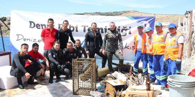 Deniz Dibi Temizliği Bardakçı'da Devam Etti