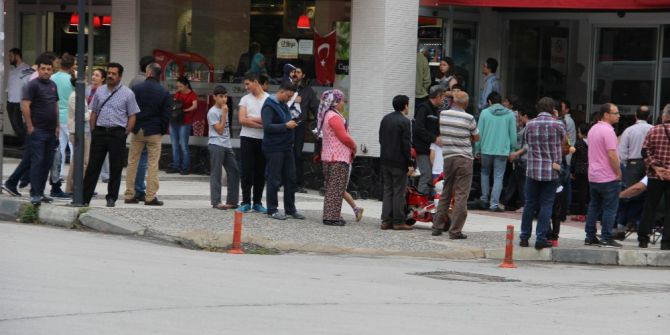 Manisa'da Deprem Güvenlik Kamerasında