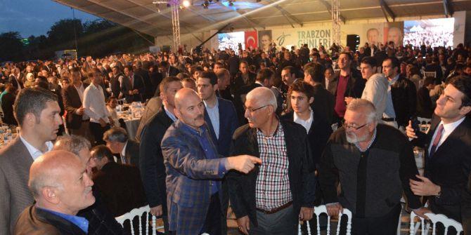 Şimşek, Soylu Ve Özlü İlk İftarını Trabzonlularla Açtı