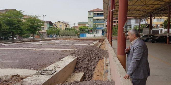 Başkan Baran, Çamlıtepe Kapalı Pazar Alanını İnceledi