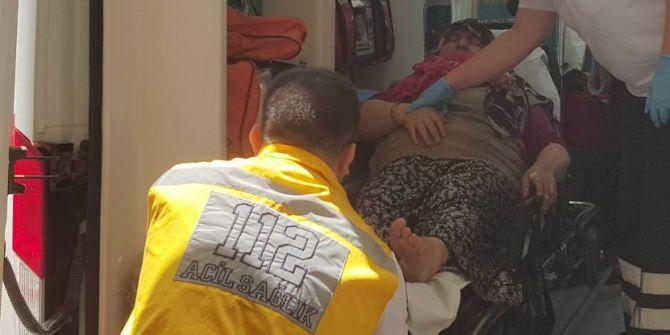 Boya Yapmak İçin Çıktığı Merdivenden Düşen Kadın Hastanelik Oldu