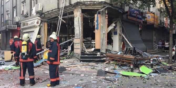 Bakırköy'de Tüpgaz Patlaması. Bir İşyeri Harabeye Döndü