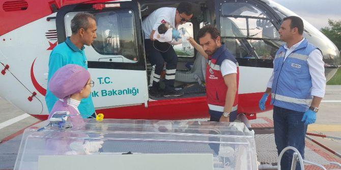 Yeni Doğmuş Bebeğin Yardımına Ambulans Helikopter Yetişti