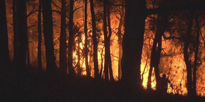 İzmir'in Bayındır İlçesindeki Yangın 12 Saattir Devam Ediyor