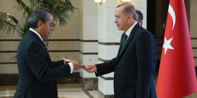 Cumhurbaşkanı Erdoğan'ın Güven Mektuplarını Kabulü