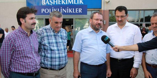 Başkan Toçoğlu ve Sakaryalı vekiller, traktör kazasında yaralanan işçileri ziyaret etti