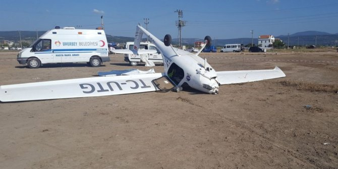 Troy Air Fest'te korkutan uçak kazası: 1 yaralı