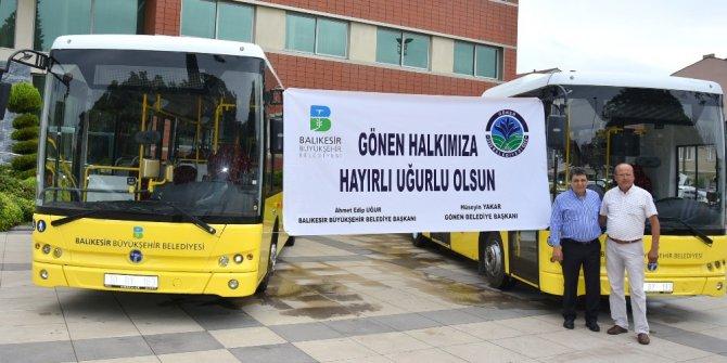 Büyükşehir'den Gönen iki yeni otobüs