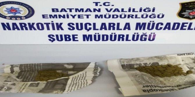 Batman'da 114 gram esrar ele geçirildi