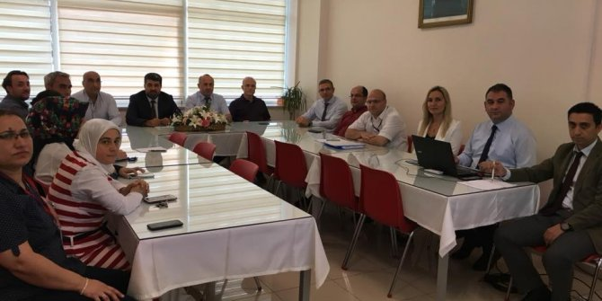Eğitim Araştırma Hastanesinde değerlendirme toplantısı