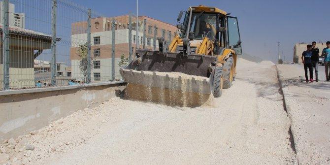 Eyyübiye'de okul yolları kışa hazırlıyor