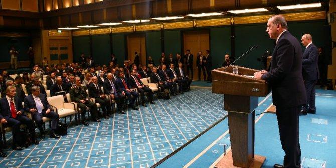 """Cumhurbaşkanı Erdoğan: """"Irak ve Suriye'nin toprak bütünlüğü konusunda hemfikiriz"""""""
