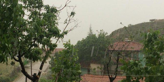 Muratkolu Köyünde Fırtına ve Sel Baskını