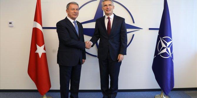 Bakan Akar, Nato Genel Sekreteri Stoltenberg İle Bir Araya Geldi