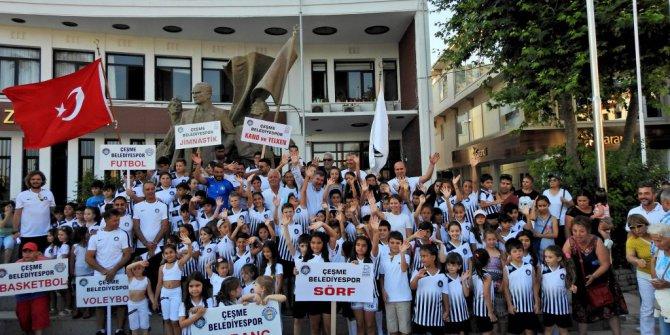 Çeşme Belediyespor Yaz Spor Okulları'nın Açılış Töreni Yapıldı