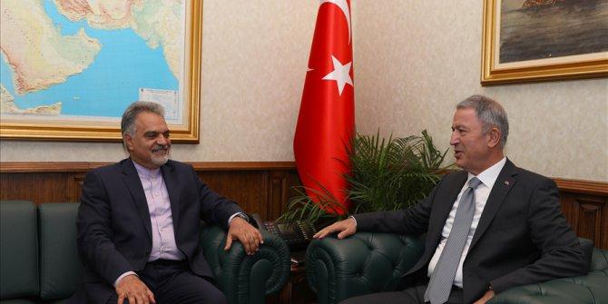 İran'ın Ankara Büyükelçisi Farazmand'dan Bakan Akar'a Ziyaret
