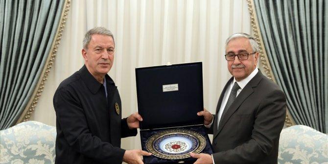 Bakan Akar, Kktc Cumhurbaşkanı Akıncı İle Bir Araya Geldi