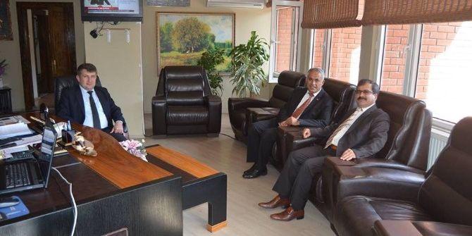 Cumhuriyet Başsavcısı Bilgili Ve Ceza İnfaz Kurum Müdürü Şen'den Başkan Yaman'a Ziyaret