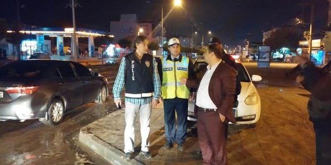 Kaymakam Kızıltoprak Polis Ekiplerinin Yol Uygulamalarını Denetledi