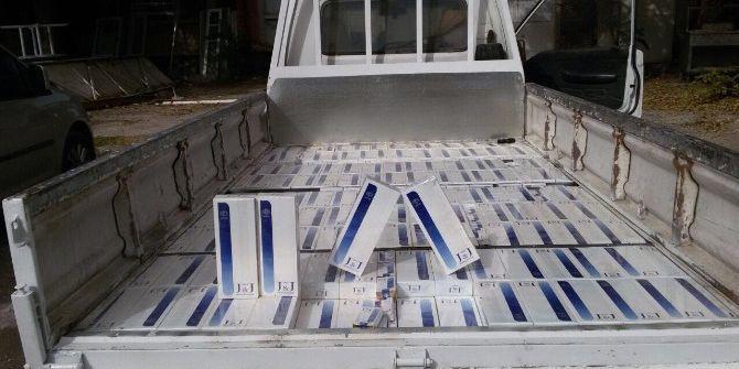 İki Suriyeli 3 Bin 500 Paket Kaçak Sigara İle Yakalandı