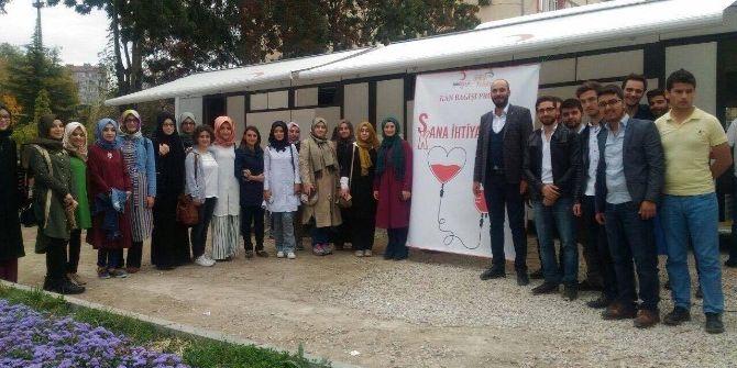 Ak Partili Gençlerden Kan Bağışı Kampanyasına Destek