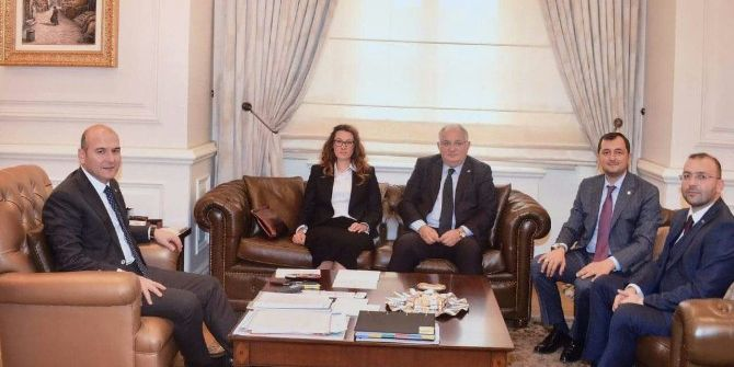 Ak Parti İl Başkanları'ndan Bakan Soylu'ya Ziyaret