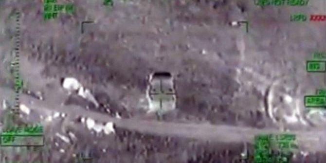 Bomba Yüklü Araçlar Taarruz Helikopterle İmha Edildi