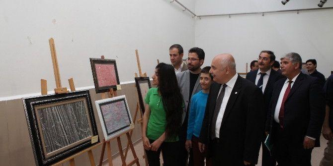 Adıyaman Üniversitesinde Ebru Sergisi Açıldı