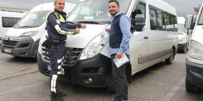 Yalova'da Servis Araçları Denetimden Geçti