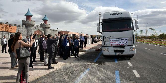 Afyonkarahisar'dan, Halep'e 510 Çuval Un Yardımı Gönderildi