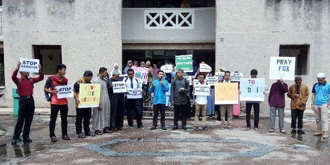 Uluslararası İslam Üniversitesi Öğrencilerinden Arakan'da Yapılan Zulme Kınama