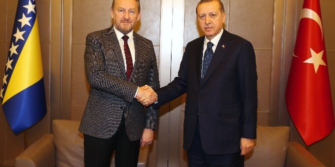 Cumhurbaşkanı Erdoğan, Bosna-hersek Devlet Başkanlığı Konseyi Üyesi İzzetbegoviç'i Kabul Etti