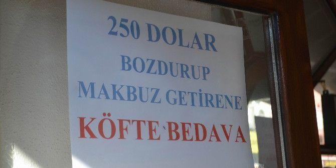 Dolar Bozdurana Köfte Bedava