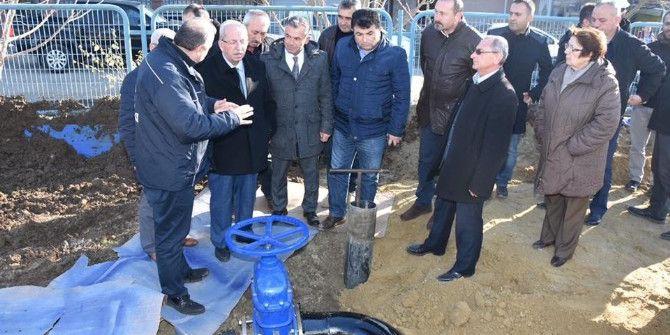 Ergene'de İçme Suyu Şebeke Hattının Açılışı Yapıldı
