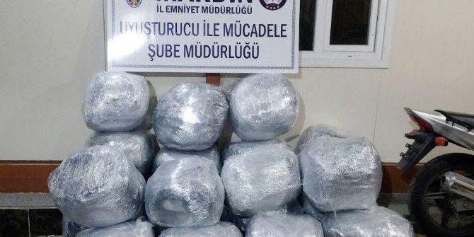 Mardin'de 198 Kilogram Esrar Ele Geçirildi